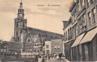 Ansichtkaart Gouda Gouwe Bouw Magazijn De Zon in de Wijdstraat Gompers HC9587