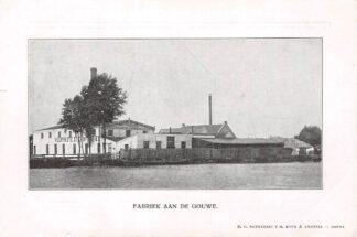 Ansichtkaart Gouda Fabriek Gouda Vuurvast langs de Gouwe Reclame Zeer zeldzaam! HC9589