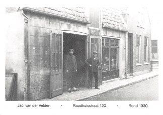 Ansichtkaart Alphen aan den Rijn Reclame Verwarming Witgoed Jac. van der Velden Raadhuisstraat HC9620