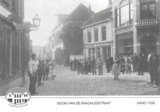 Ansichtkaart Alphen aan den Rijn Reclame Jac. van der Velden verwarming en witgoed Raadhuisstraat HC9621