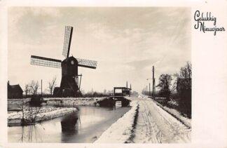 Ansichtkaart Onbekend Molen in winter landschap 1947 HC9645