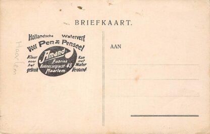 Ansichtkaart Haarlem Reclame Waterverf Amand Fabriek Bakenessergracht 43 Molen HC9649