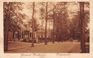 Ansichtkaart Voorthuizen Dorpsstraat Reclame bord thee HC9655