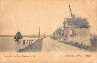 Ansichtkaart Nieuw Lekkerland Middelweg Molen Van Nooten no. 315 Schoonhoven C9658