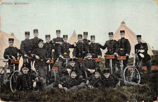 Ansichtkaart Militair Militaire Wielrijders Soldaten met fiets 1907 HC9679