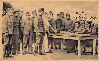 Ansichtkaart Militair Mobilisatie 1939 De soldij is een voorname zaak En zooals u ziet een drukke taak Soldaten WO2 HC9756