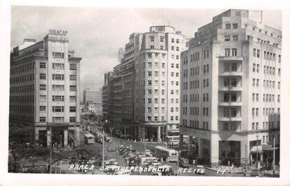 Ansichtkaart Brasil Brazilië Recife Praca Da Independencia Fotokaart Zuid-Amerika  HC9798