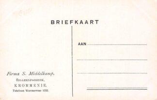 Ansichtkaart Krommenie Reclame Firma S. Middelkamp Sigarenfabriek Illustrator Arthur W. Wimble HC9811