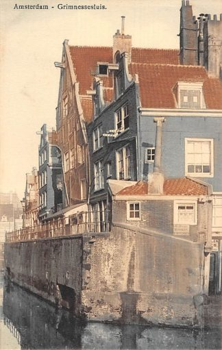 Ansichtkaart Amsterdam Grimnessesluis Sluis Scheepvaart HC10022
