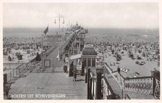 Ansichtkaart Scheveningen Paviljoen Pier Strand en zee 1949 HC10061