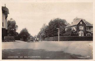 Ansichtkaart Overveen De Militairenweg met Koperen Kan Melkboer 1935 HC10064