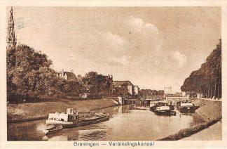 Ansichtkaart Groningen Verbindinsgkanaal Binnenvaart schepen Scheepvaart HC10072
