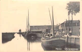 """Ansichtkaart 's-Gravenmoer Fotokaart Haven Schip """"Onderneming"""" Binnenvaart schepen Scheepvaart HC10077"""