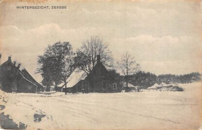 Ansichtkaart Zeegse Tynaarlo Winter gezicht boerderijen in de sneeuw HC10079