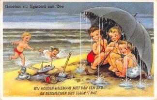 Ansichtkaart Egmond aan Zee Groeten uit 1959 HC10085