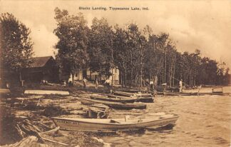 Ansichtkaart Verenigde Staten USA Blacks Landing Tippecanoe Lake Indiana Noord-Amerika Reclame G.A. Goldschmeding Piano en orgelhandel Warmoesstraat en Keizersgracht Amsterdam HC10141