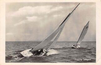 Ansichtkaart Sneek Friesche Zeilsport 1942 Zeilen Schepen HC10146
