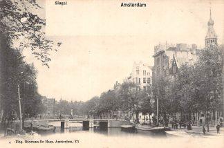 Ansichtkaart Amsterdam Singel Binnenvaart schepen Scheepvaart HC10160