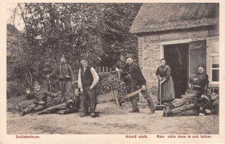 Ansichtkaart Militair WO1 1914-1918 Mobilisatie Soldatenleven Soldaten Humor Dorpsleven HC10190