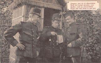 Ansichtkaart Militair WO1 1914-1918 Mobilisatie Soldaten Humor HC10191