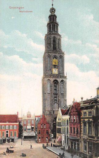 Ansichtkaart Groningen Martinitoren Cafe Restaurant L.B. de Jong HC10245