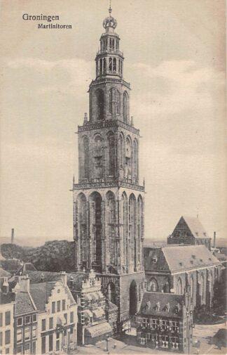 Ansichtkaart Groningen Martinitoren Cafe Restaurant L.B. de Jong HC10247