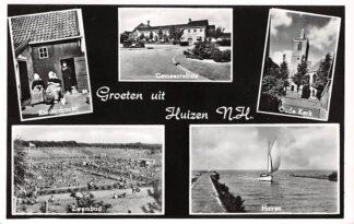Ansichtkaart Huizen Groeten uit 1967 Vijf-luik HC10277