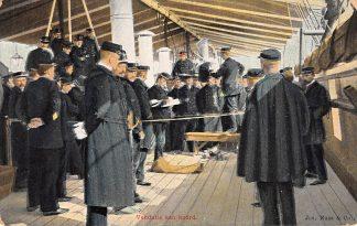 Ansichtkaart Militair Marine Vendatie aan boord Soldaten HC10282
