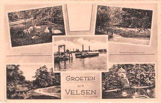 Ansichtkaart Velsen Groeten uit Vijfluik met veerpont HC10318