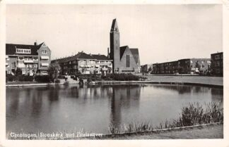 Ansichtkaart Groningen Sionskerk met Florisvijver Ned. Hervormde Kerk 1952 HC10338