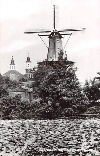Ansichtkaart Ravenstein Stadsgracht met molen HC10351