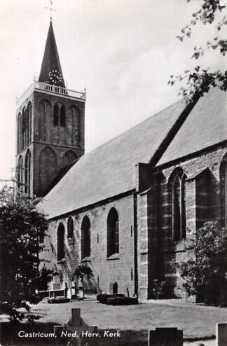 Ansichtkaart Castricum Ned. Hervormde Kerk met begraafplaats 1969 HC10353