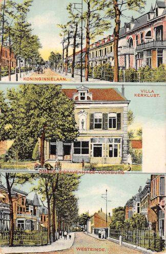 Ansichtkaart 's-Gravenhage Voorburg Koninginnelaan Villa Kerklust en Westeinde 1909 HC10363