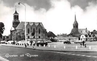 Ansichtkaart Rijssen Groeten uit 1962 Kerk Auto HC10383