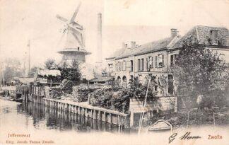 Ansichtkaart Zwolle Jufferenwal met molen 1902 HC10387