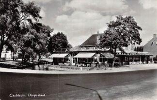 Ansichtkaart Castricum Dorpsstraat met hotel Funadama 1964 HC10390