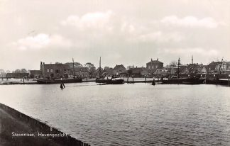 Ansichtkaart Stavenisse Havengezicht Binnenvaart schepen Scheepvaart 1959 HC10391