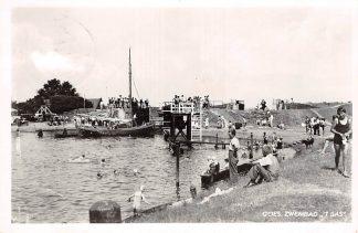 Ansichtkaart Goes Zwembad 't Sas Sluis Binnenvaart schepen Scheepvaart 1959 HC10392