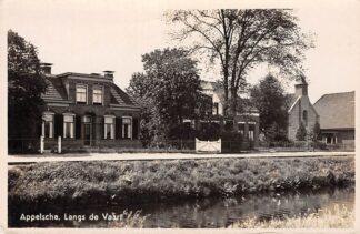 Ansichtkaart Appelscha Langs de Vaart kerk 1941 HC10396