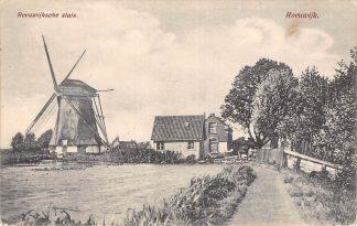 Ansichtkaart Gouda Burgvlietkade Reeuwijksche Sluis met molen Reeuwijk HC10456