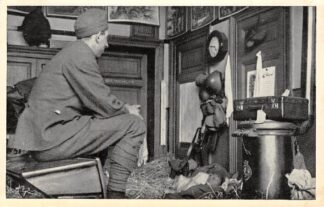 Ansichtkaart Militair Mobilisatie WO2 1939 Nederland Paraat Serie 1 Soldaat bij de wachtkamer Soldaten HC10480