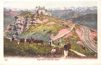 Ansichtkaart Zwitserland Rigi-Kulm und die Alpen Schweiz Suisse Switzerland Europa HC9901