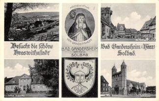 Ansichtkaart Duitsland Bad Gandersheim am Harz 1952 Deutschland Europa HC9905