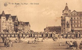 Ansichtkaart België Het Zoute Le Zoute Knokke La Plage Het strand Europa HC9906