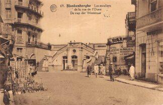 Ansichtkaart België Blankenberge De trap der Weststraat 1926 Europa HC9907