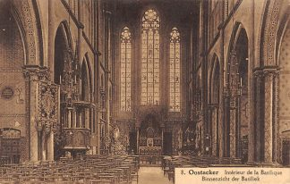 Ansichtkaart België Oostacker Oostakker Binnenzicht der Basiliek Gent Europa HC9909