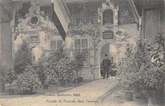 Ansichtkaart België Gent Floralies Gantoises 1908 Facade de Frascati dans l'annexe Europa HC9910