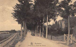 Ansichtkaart Belgie Rochefort Promenade du Thiers des Falizes Auto Europa HC9911