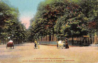 Ansichtkaart 's-Gravenhage Scheveningen Oude Scheveningscheweg b.h. Hotel Promenade 1916 HC9918