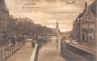 Ansichtkaart Amsterdam St. Anthoniesluizen Sluis Binnenvaart HC9939
